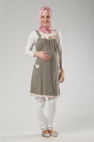 Kapalı hamile elbisesi