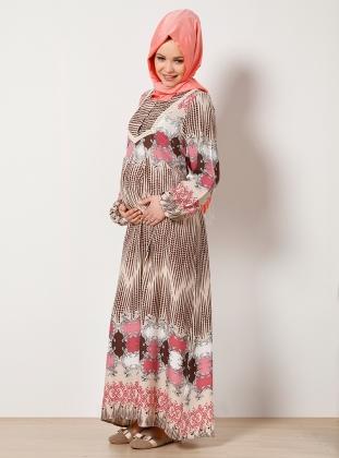 Tesettür hamile elbisesi uzun
