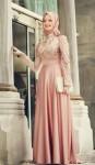 Bayramlık yeni tesettür elbise modelleri