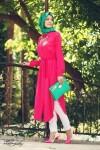 Gamze Polat uzun yazlık tesettür tunik modelleri