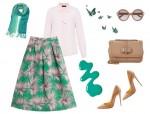 Yeşil yazlık tesettür kombin