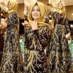 Pınar Şems kışlık abiye modelleri