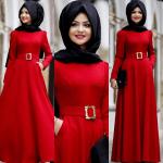 Pınar Şems kırmızı abiye modelleri