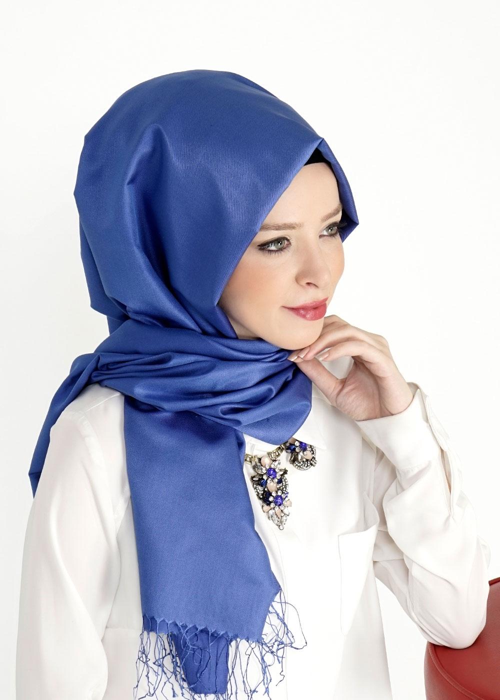 İpek şal modelleri mavi