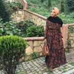 Hülya Aslan desenli elbise modelleri