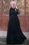 Muslima Wear deri detaylı abiye modelleri