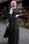 Muslima Wear ekoseli elbise modelleri