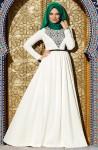 Muslima Wear ekru tesettür abiye modelleri