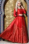 Muslima Wear kırmızı abiye modeli