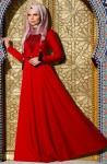 Muslima Wear kırmızı tesettür abiye modelleri