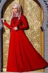 Muslima Wear kırmızı tesettür abiyeler