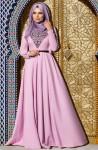 Muslima Wear lila abiye modelleri