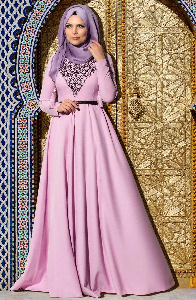 47650c61adacd Muslima Wear lila abiye modelleri