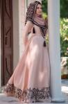 Muslima Wear volanlı elbise modelleri