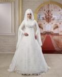 Osmanlı uzun kollu gelinlik modelleri