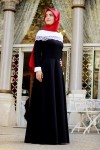 Sema Şimşek siyah tesettür elbise modelleri