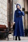 Gamze Polat kadife elbise modelleri