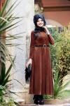 Kadife püsküllü elbise modelleri