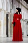 Pınar Şems kırmızı abiye modelleri 2016
