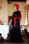 Pınar Şems siyah tesettür abiye modelleri