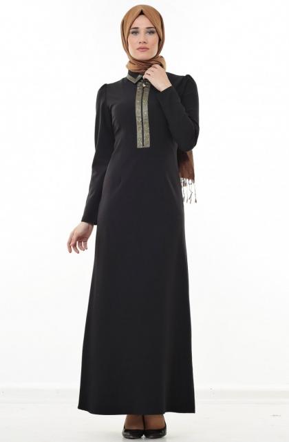 Puane siyah elbise modelleri 2016
