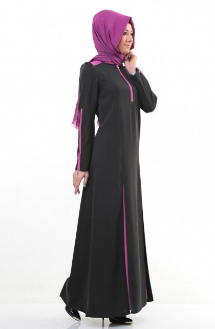 Puane siyah elbise modelleri