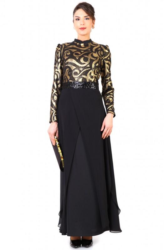 Puane yaldızlı elbise modelleri