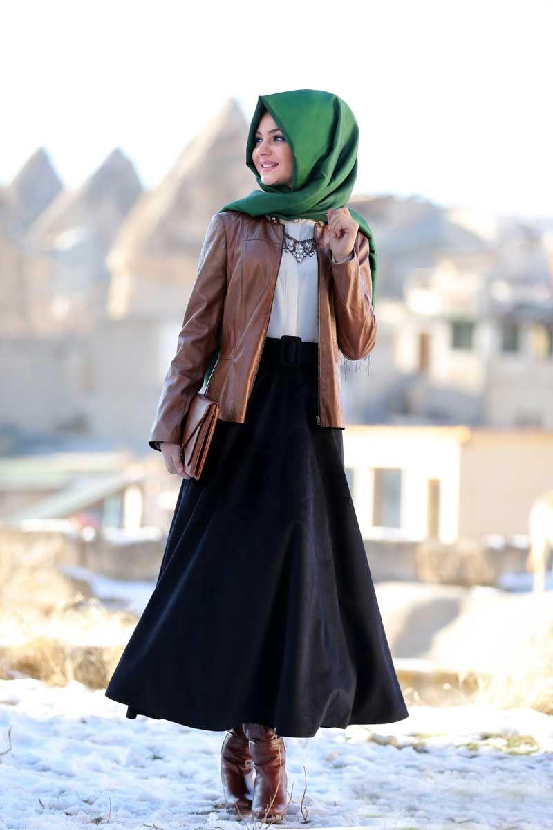 Pınar Şems kadife etek 2016