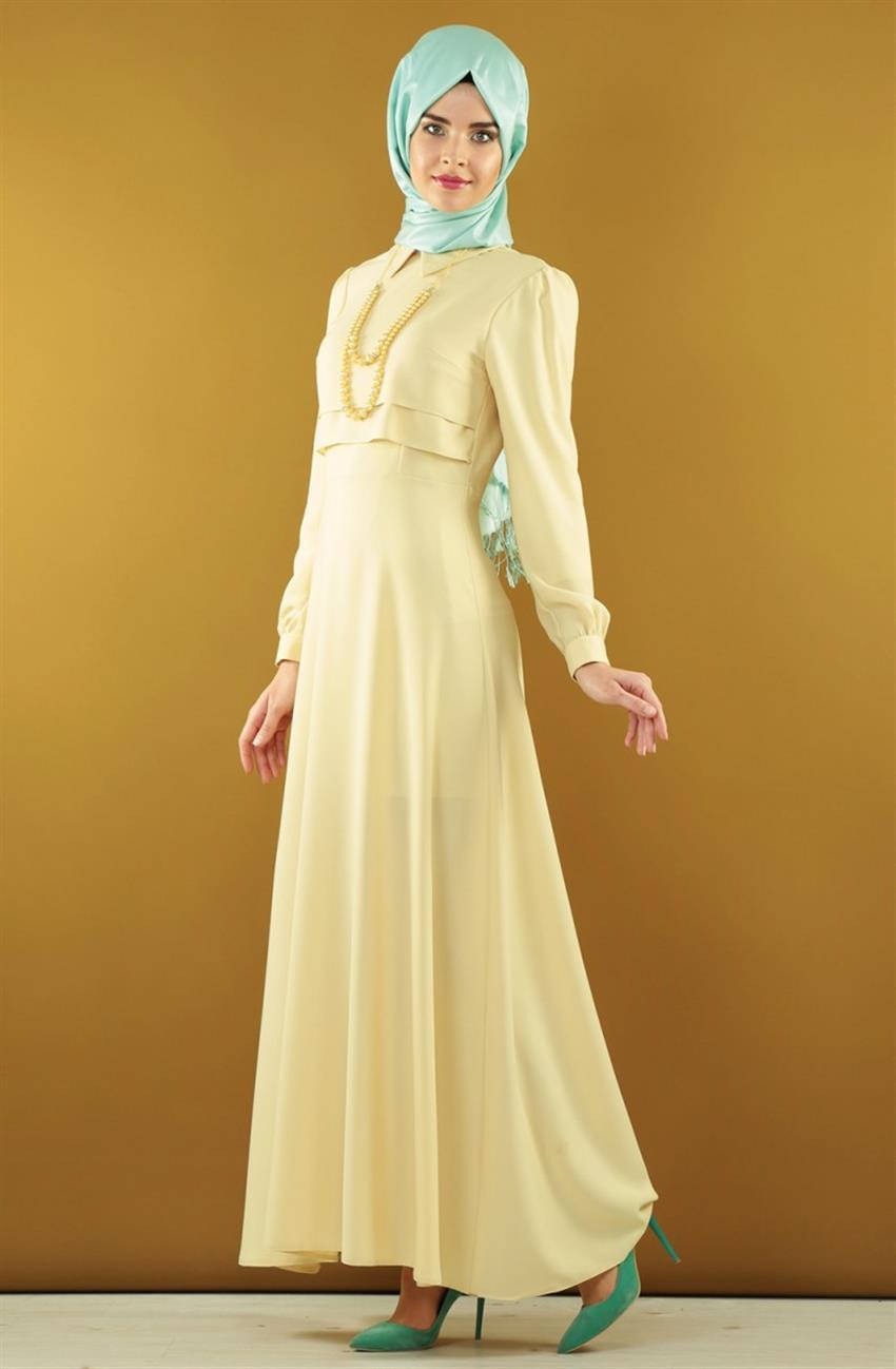 Nursima sarı abiye