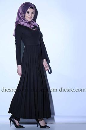 Siyah tesettür elbise genç