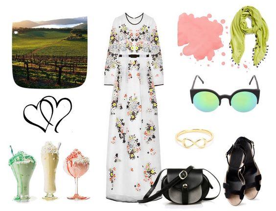 Yazlık maxi elbise kombini