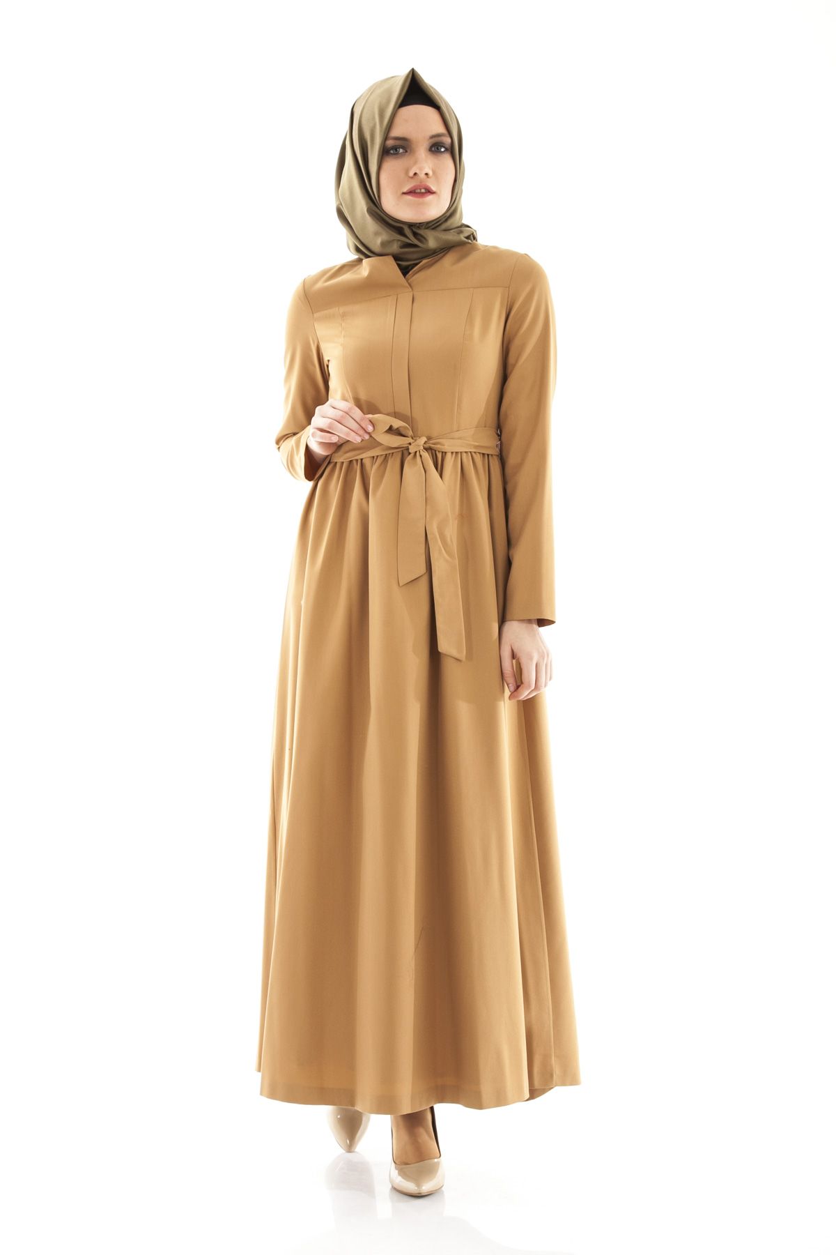 Armine yazlık camel elbise
