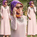Rabia Şamlı pudra elbise