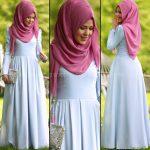 Rabia Şamlı rose mavi elbise