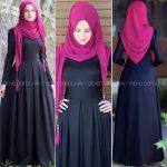 Rabia Şamlı rose siyah elbise