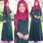 Rabia Şamlı rose yeşil elbise