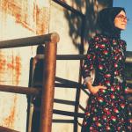 Kuaybe Gider çiçekli elbise
