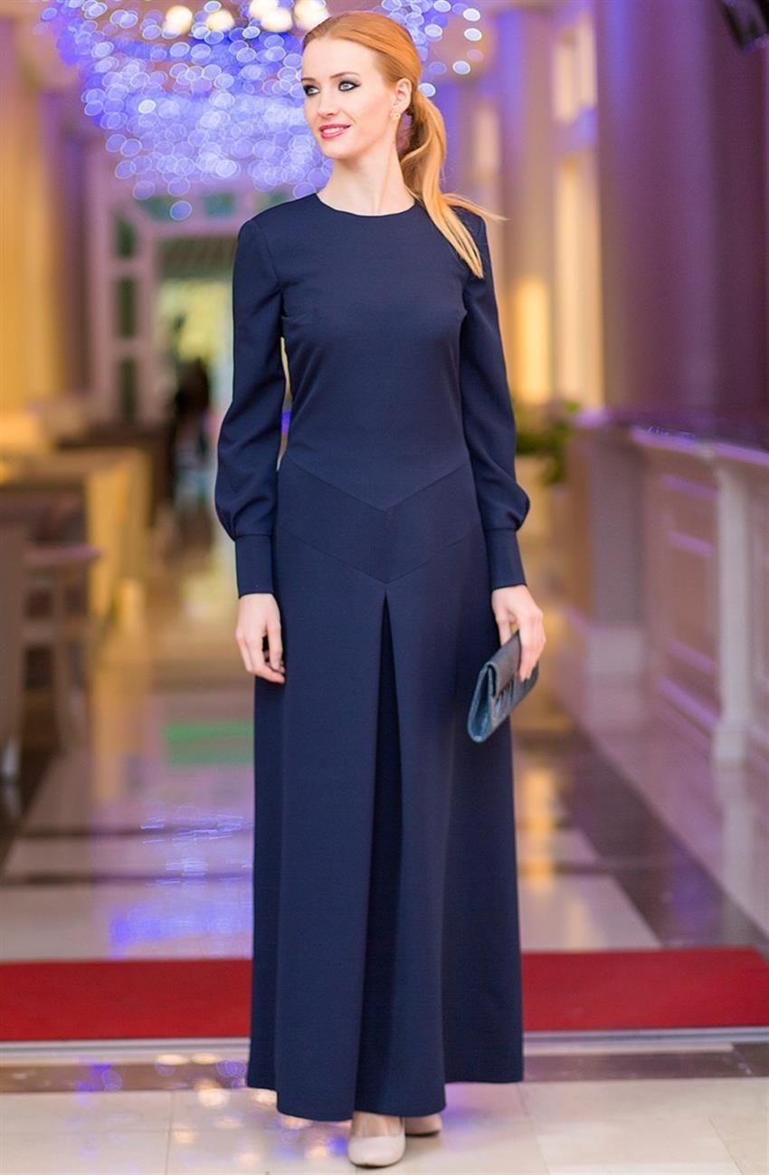 Tuay Karaca lacivert elbise