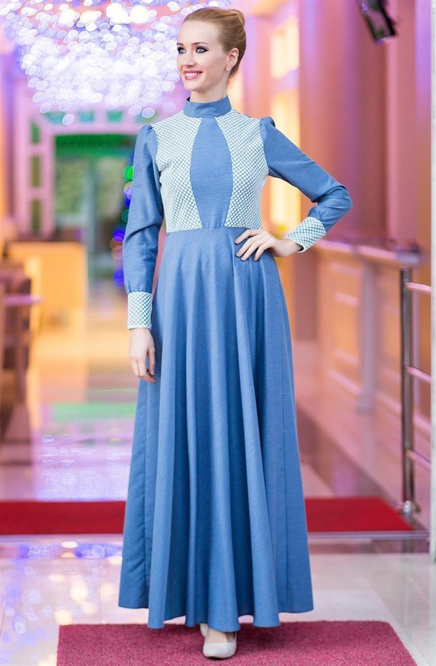 Tuay Karaca mavi elbise