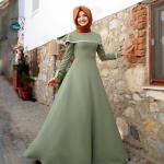Gamze Polat 2017 tesettür elbise