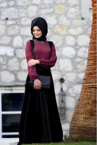 Gamze Polat kadife elbise