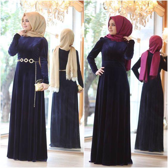 Kadife abiye elbiseler