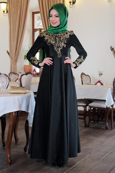 Mevra kadife elbise