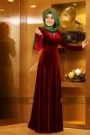 Pınar Şems kadife elbise