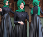 2017 Pınar Şems siyah tesettür elbise