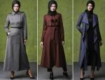 Anneler için tesettür palto