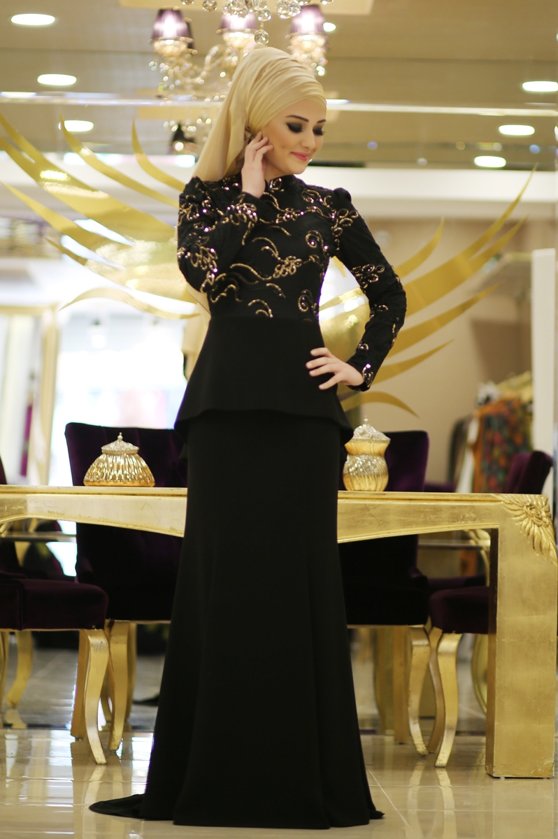 Minel Aşk siyah elbise