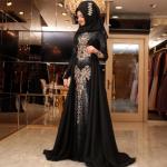 Pınar Şems güneş siyah abiye