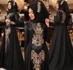 Pınar Şems siyah tesettür abiye