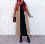 Kışlık tesettür palto kombini